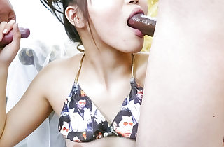 Hot chick Miyu getting toyed for..