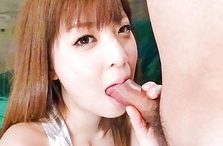 Cock lusty Marim Omi gives a blowie..