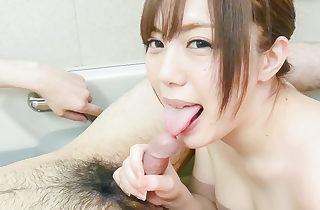Rino Sakuragi plays naughty with cock..